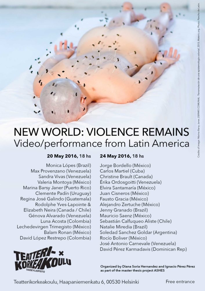 "2016. Poster for Video Screening ""New World:Violence Remains"""